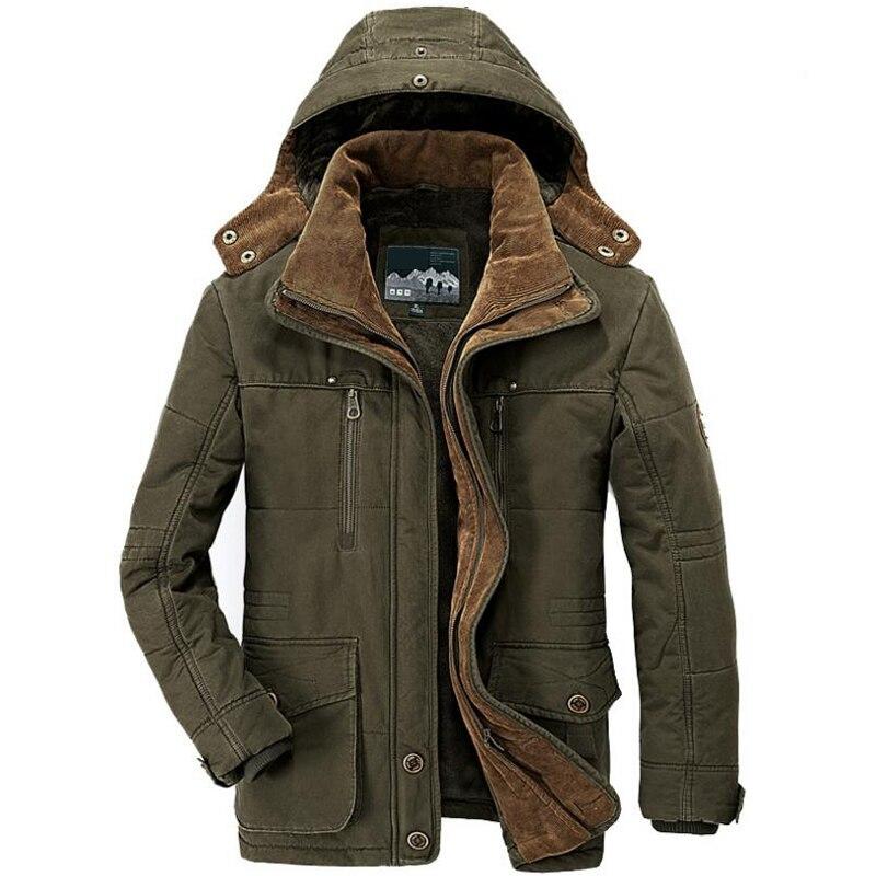 2019 jaqueta de inverno dos homens parkas casaco masculino militar-gola com capuz de 15 graus grosso quente dos homens inverno parkas tamanho grande 6xl 7xl