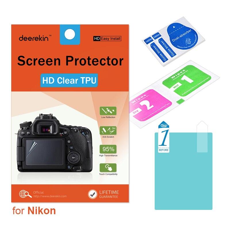 Deerekin HD pantalla de TPU blando Protector para Nikon Coolpix B700 P900 P900S P610 P600 P600S S9900 P7800 cámara Digital
