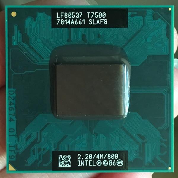 Original en planta portátil para intel Core 2 Duo T7500 CPU 4M Socket 479 Cache/2,2 GHz/800/Dual-Core portátil procesador soporte 965