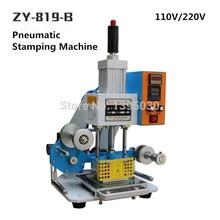 ZY-819-B 공압 스탬핑 기계 가죽 로고 creasing 기계, 코드 프린터, 이름 카드 엠보싱 기계 110/220 v