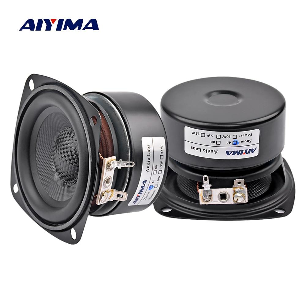 AIYIMA-altavoces de Audio para coche, 2 uds., 3 pulgadas, Altavoz 4 8...