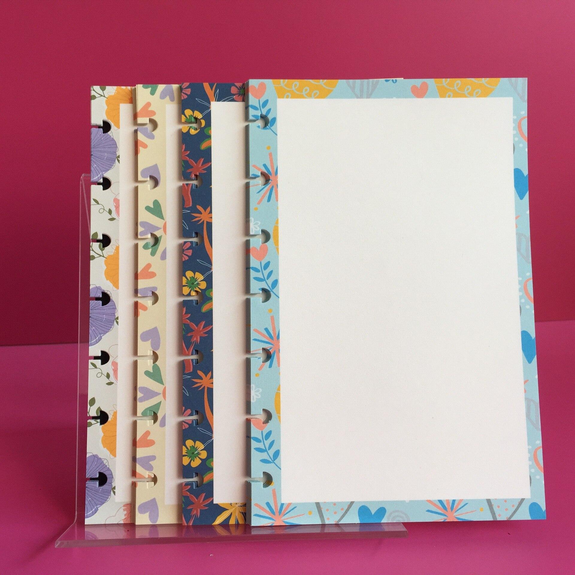 80 Uds A5B6 cuaderno de papel de hoja suelta libro de cuenta de mano recarga de papel de Daolin Bloc de notas colorido agujero de hongo interno hoja suelta