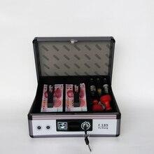Kasa z tacą na pieniądze bezpieczny metalowy zamek Box pudełka blokujące z klucz pieniądze Saving Organizer-skrzynka bezpieczeństwa z taca na monety F189