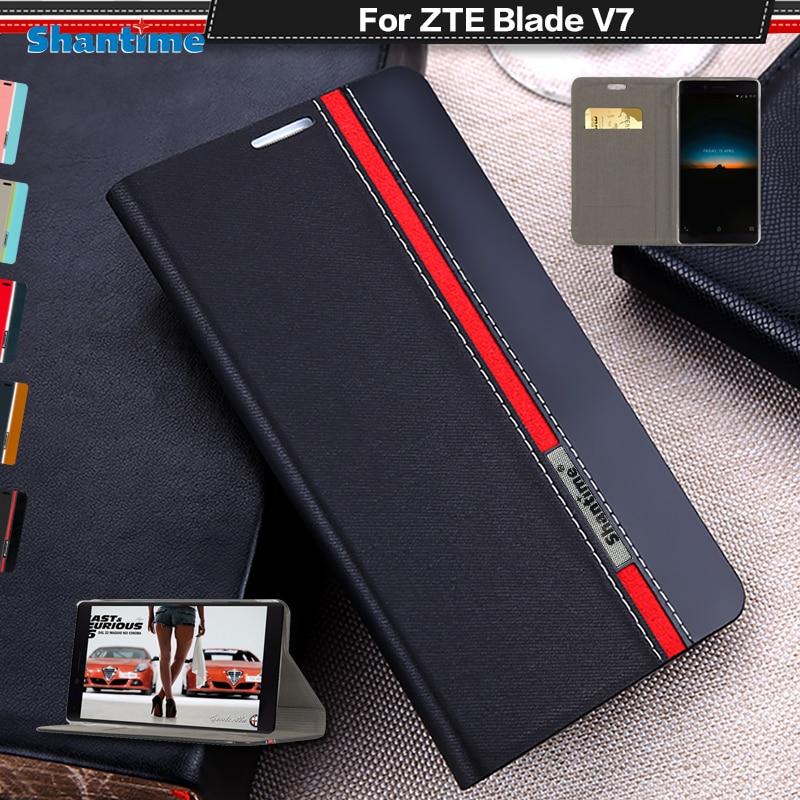Чехол-книжка для ZTE Blade V7, роскошный чехол-книжка из искусственной кожи для ZTE Blade V7, силиконовый мягкий чехол-накладка на заднюю панель