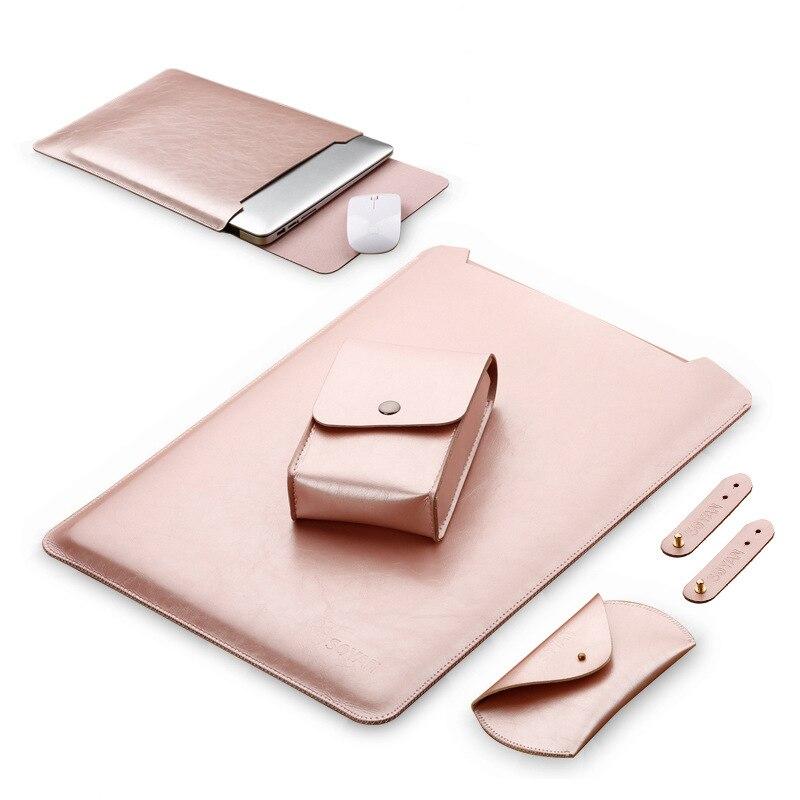 Para Xiaomi Mi Notebook Air 12 13 Pro 15,6 Portátil Bolsa funda de lujo PU Coque para Xiaomi Air 12,5 de 13,3 funda de portátil cubierta