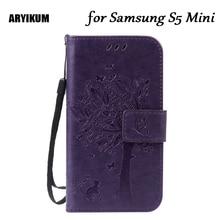 ARYIKUM pour Samsung Galaxy S5 Mini Duos G800F G800H SM-G800F SM-G800H PU cuir Silicone couverture arrière pour Samsung S5 Mini S5Mini