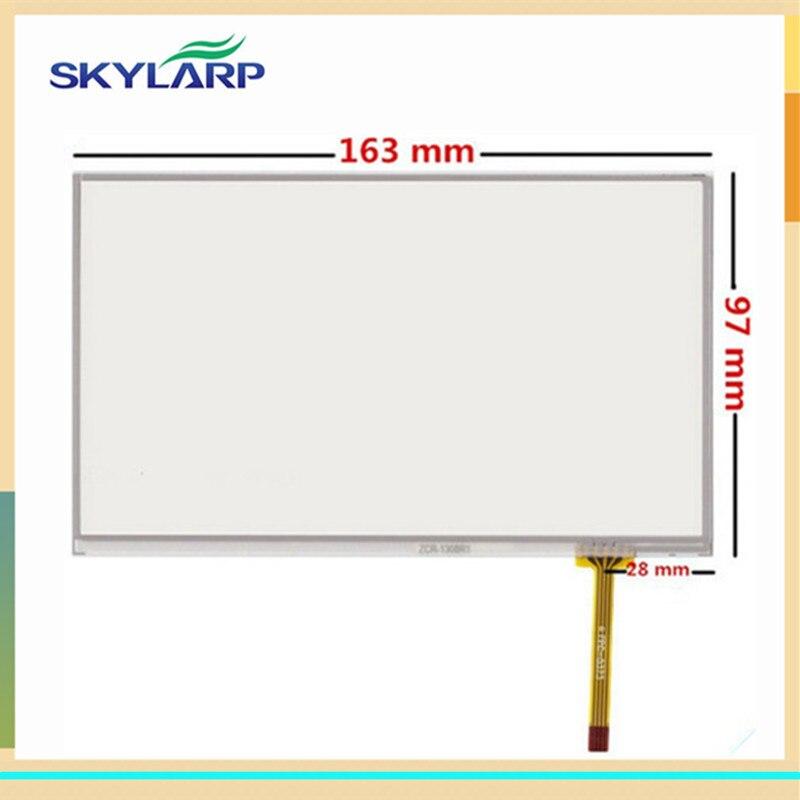 Nueva pantalla táctil de 4 hilos de 7 pulgadas para 163mm * 97mm pantalla táctil resistiva digitalizador GPS navegador tableta Panel de vidrio envío gratis