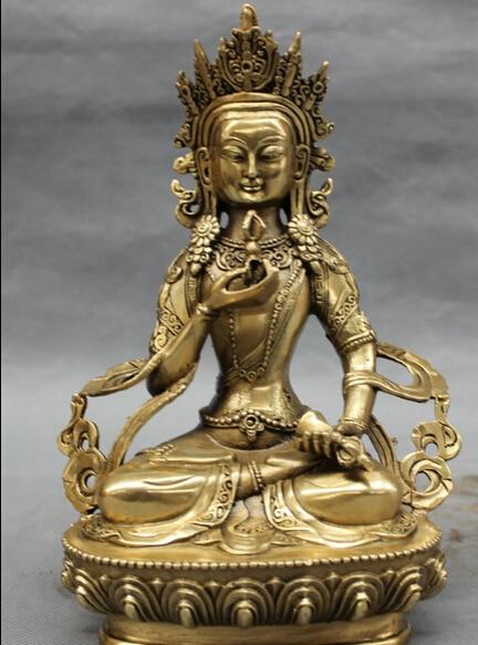 "JP S0606 8 ""Tibet Tibetana de Bronce Folk Budismo Vajra Vajradhara Estatua de Buda de Vajrayana Descuento 35%"
