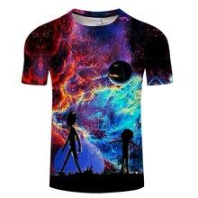 Galaxy morty & rick t-shirt Männer t-shirt 3D Tops & Tees Fashion Sommer Kurzarm Shirts Street Tuch Dropship Asiatischen größe S-6XL