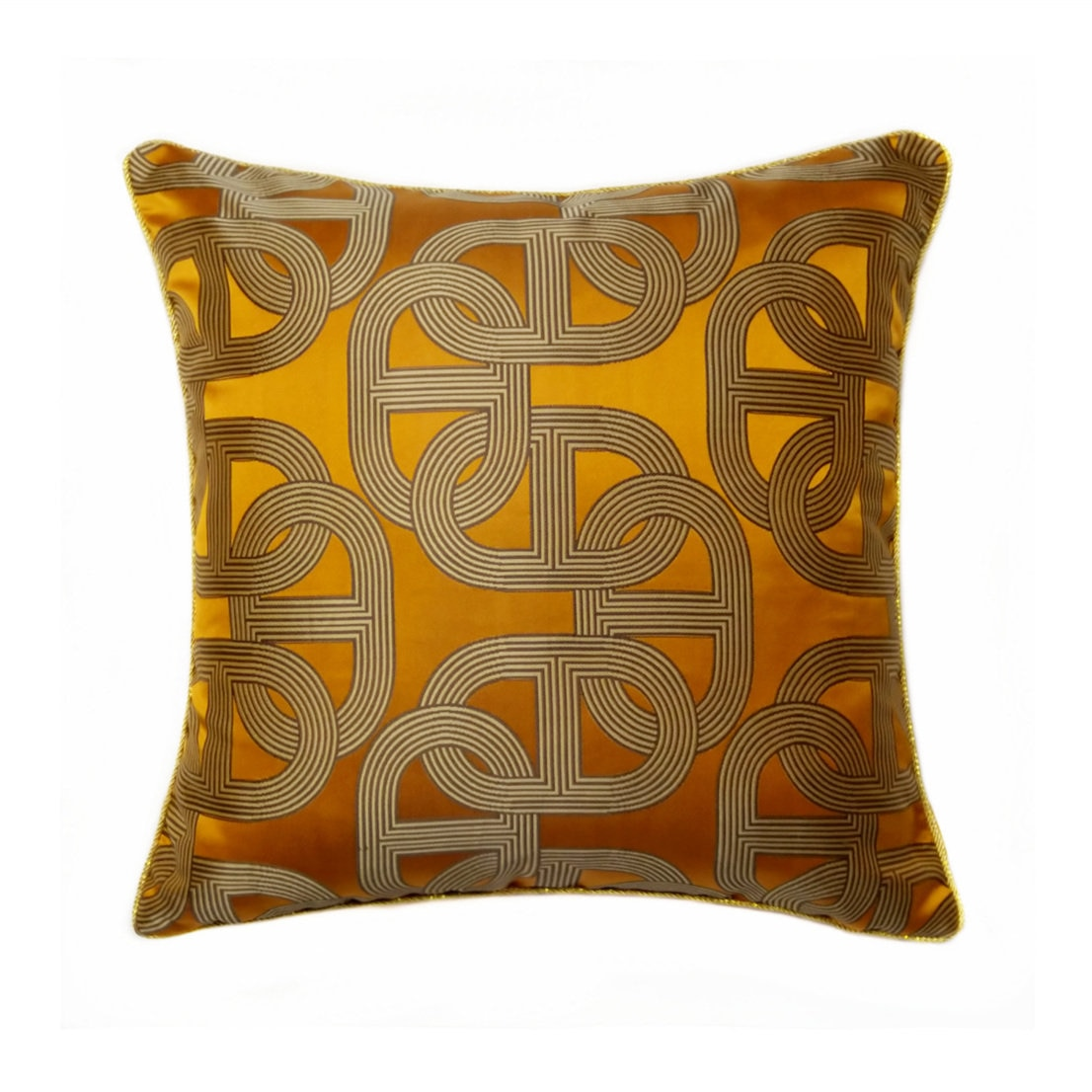 Amerikaanse Luxe Gold Kussensloop Geometrische Jacquard Sofa Decoratieve Kussenhoes 30X50 Cm Auto Taille Kussenslopen Thuis deco