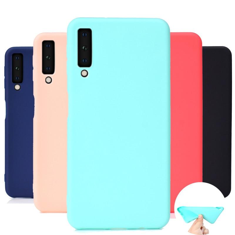 A7 2018 funda de TPU suave para Fundas Samsung Galaxy A7 2018 funda trasera de silicona para Coque Samsung A750 A7 2018 Fundas de teléfono