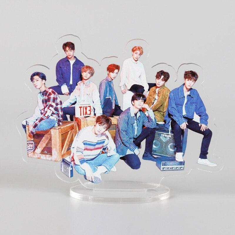 K-pop estrella BLACKPINK GOT7 TXT dos veces STRAY niños figura acrílica con soporte Stand colección conjunto de regalos papelería