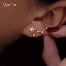 Vercret Sterling Silver Zircon Stud Earrings For Women Tiny Earring Studs For Jewelry Party Gift
