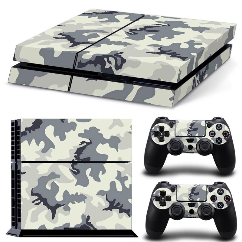 Бесплатная доставка крутой дизайн для камуфляжной кожи для Sony PS4 консоль + 2 шт контроллеров стикер кожи # TN-P4-5490