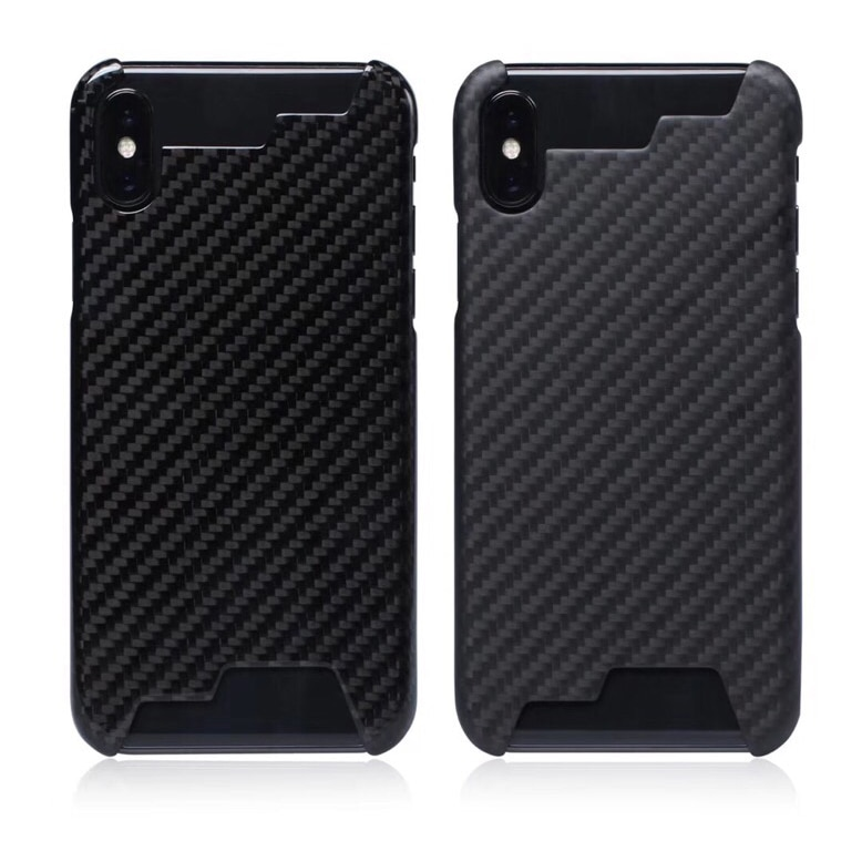 La actualización no afecta a la señal 100% Real de fibra de carbono media edge funda Ultra ligera para iPhoneX XR XS funda de carbono MAX 8 7 6 s