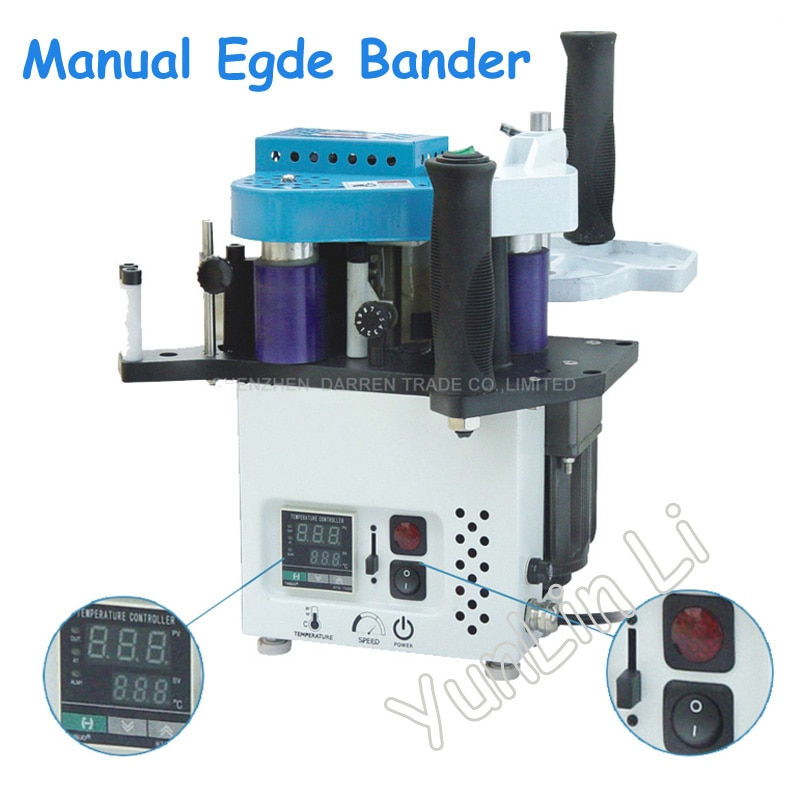 Manual Egde Bander Machine with Speed Control Portable Edge Bander with English Manual KM09