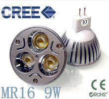 4X haute puissance CREE MR16 3x3 W 9 W 220 V Dimmable LED léger arrêt lumière lampes LED chaud/pur/frais blanc livraison gratuite