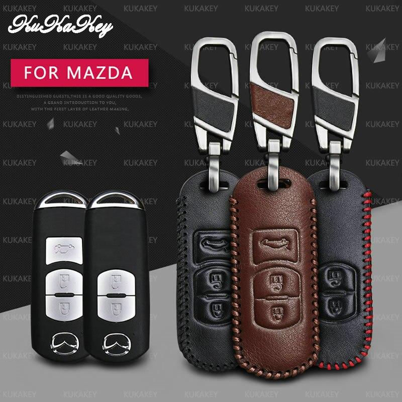 KUKAKEY дистанционный Чехол для автомобильного смарт-ключа для Mazda 2 3 5 6 8 CX7 CX9 M2 M3 M5 M6 GT кожаный брелок держатель для ключей