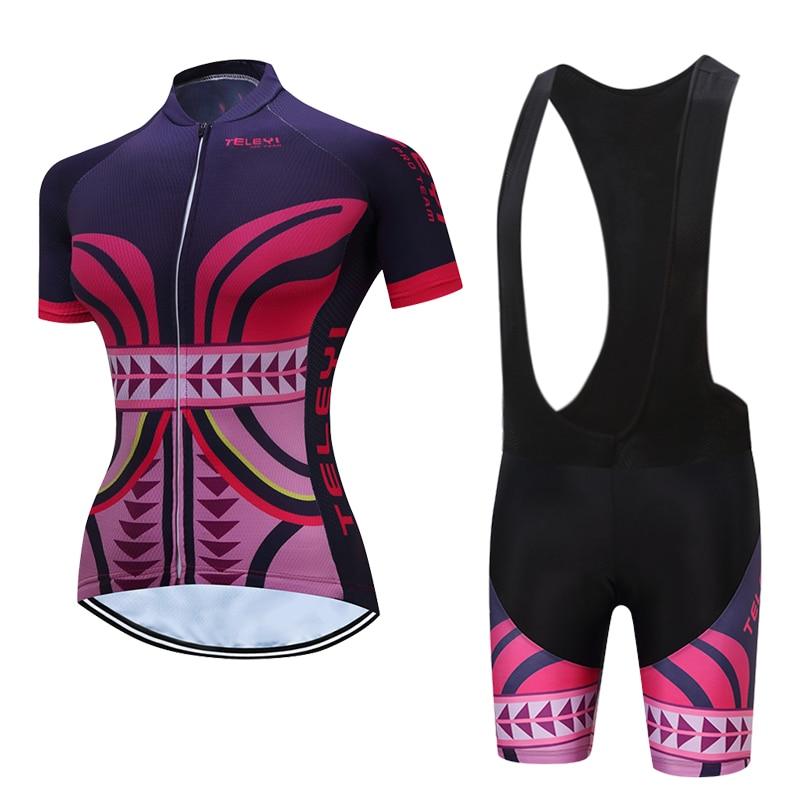 TELEYI, bikinis de mujer, Jersey de ciclismo, ropa de bicicleta de montaña para mujer, conjuntos de ropa para bicicleta de carreras, traje de triatlón, traje Skinsuit, Maillot