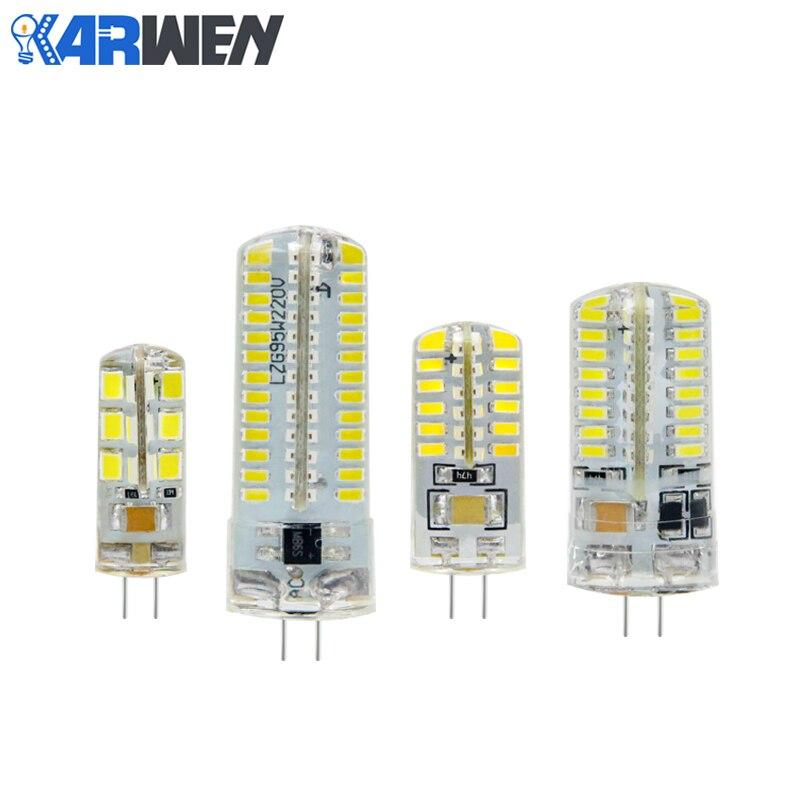 KARWEN LED G4 Lamba 220 V 3 W 4 W 5 W DC 12 V Lampada LED ampul SMD3014 2835 24 48 64 104L Değiştirin 10 w 30 w Halojen Işık Avize