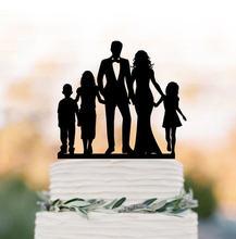 Décoration de gâteau de mariage pour famille   Décoration de mariage personnalisée, pour fille/garçon, silhouette de la mariée et du marié, décoration de gâteau originale, amusante