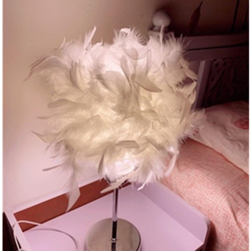 Современная креативная Ночная лампа с перьями, детская настольная лампа e27 для девочек, для макияжа, для маленьких детей, для детей, для спальни, прямая подсветка, Декор
