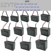CBB61 fan empezar condensador 1 uf/1,2 uf/1,5 uf/1,8 uf/2,5 uf/3 uf/3,5 uf/4,5 uf/6 uf/7 uf/8 uf/10 UF/ 12 uf/15 uf/16 uf/18 uf/20 uf 450V 2 uds