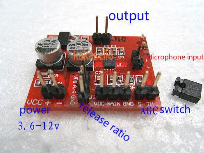 Placa amplificadora de micrófono electret MAX9814 con función AGC envío gratis