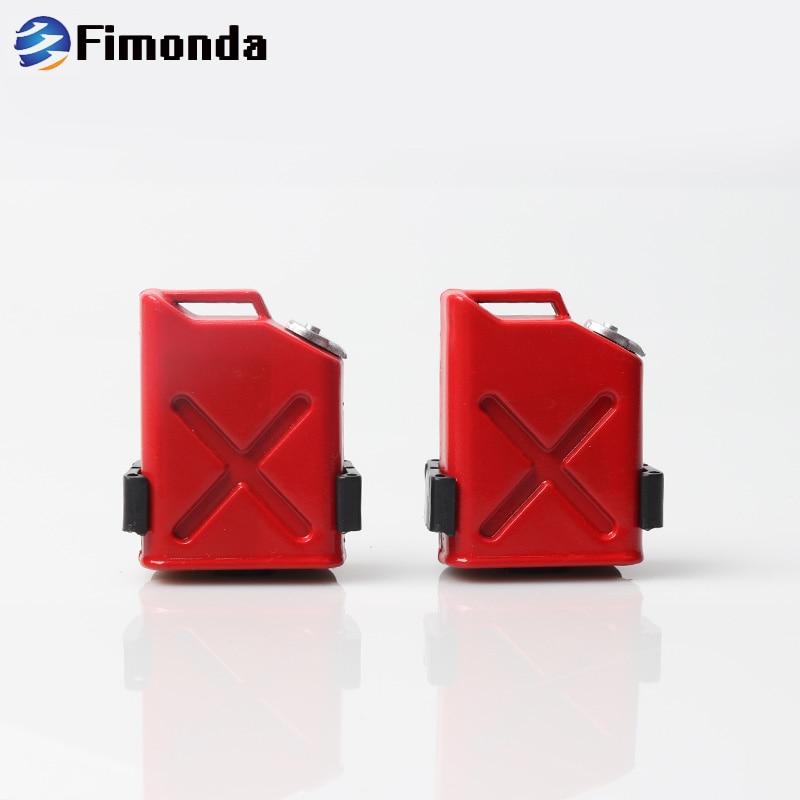 2 uds RC simulación Mini tanques de combustible para 1/10 RC Rock Cralwer coche Axial SCX10 90046 90047 Traxxas TRX4 TAMIYA CC01 D90 D110 TF2