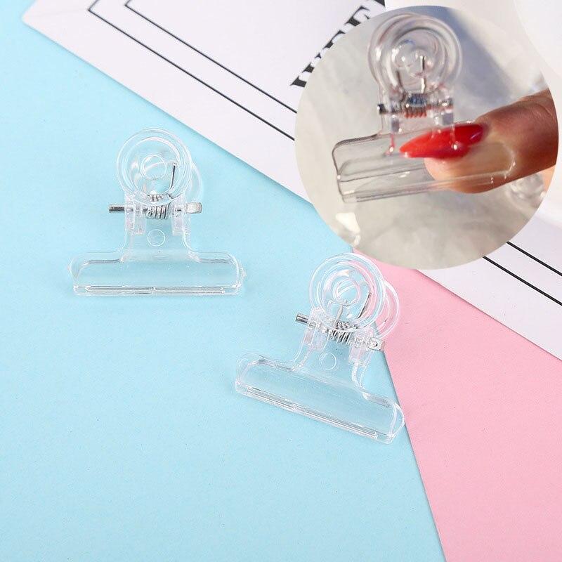 Clips curvos para pinchar uñas Multi función para extensión de uñas herramienta de manicura de puntas acrílicas Fibernails