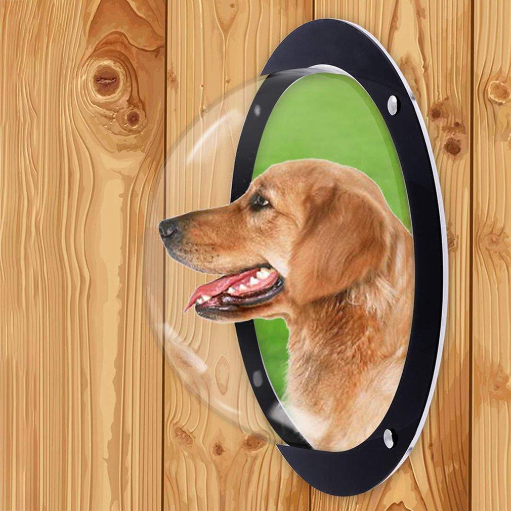 Valla Semicircular acrílica para mascotas, cerca para perros y mascotas, ventana para gatos, burbujas para Peek, ventana de cúpula acrílica duradera