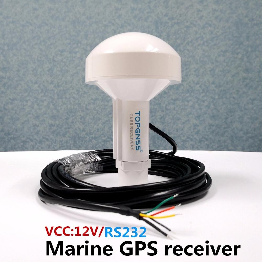 TOPGNSS RS232 GPS البحرية GPS استقبال هوائي وحدة NMEA 0183 معدل باود 4800 الجهد 12V كابل هو 5 متر.