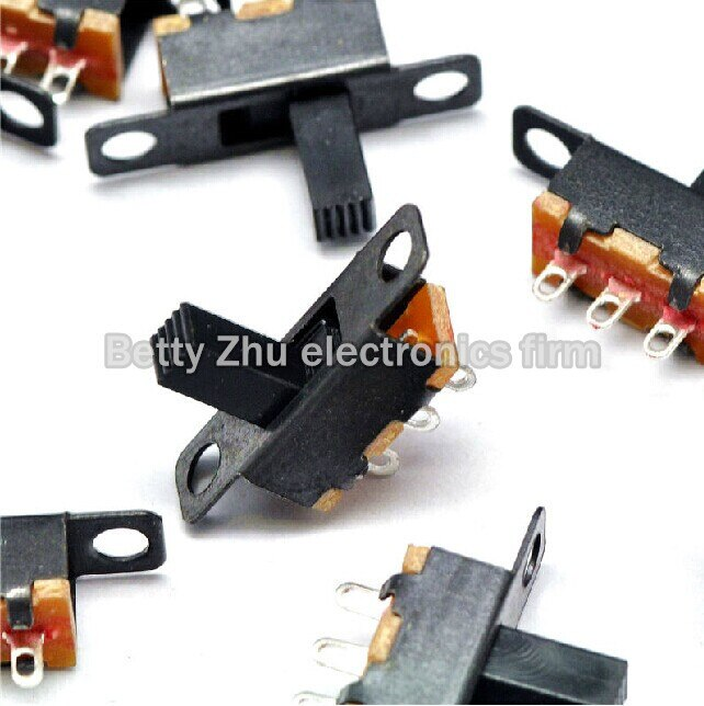 100 unids/lote SS12F15VG6 interruptor de palanca/perilla (3 pines 2 archivos) mango alto 6 MM