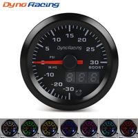 Dynoracing 2'' 52mm Dual Display Turbo Boost gauge PSI 7 colors Led Boost meter with Stepper Motor Car meter BX101496