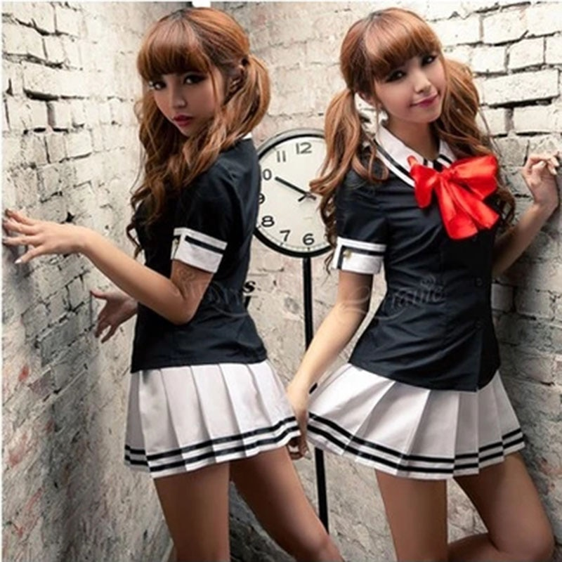 Japanese sweet half-length pleated skirt jk uniforms sailor suit jacket + tie + skirt Navy style suit JK japanese collection jk skirt pleated skirt lattice skirt cute pleated half body women s short jk uniform sweet lolita dress