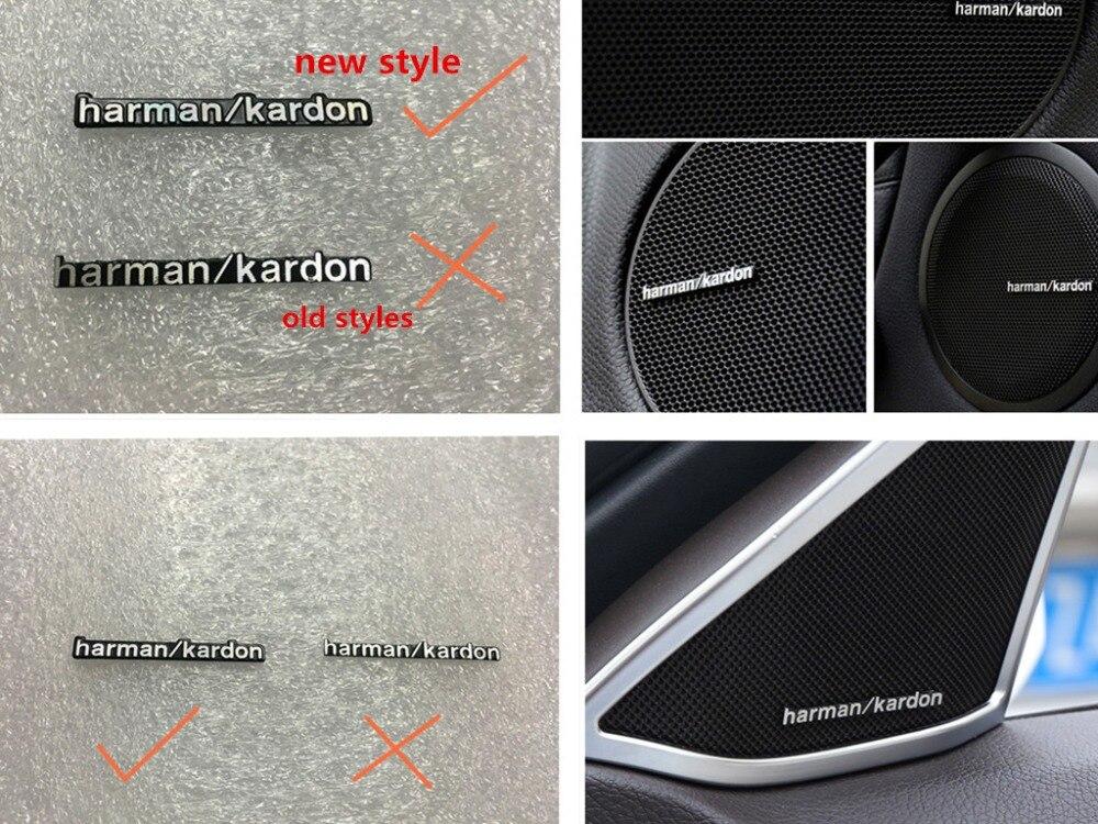 Новые стили 10 шт./лот, Hi-Fi динамик harman/kardon, аудио динамик, 3D алюминиевая эмблема, эмблема, стерео стикер 44x5mm