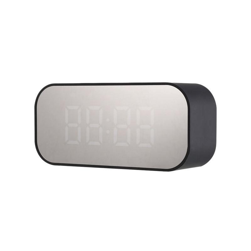 Bluetooth 5,0 altavoz inalámbrico Portátil con Bluetooth columna Subwoofer música caja de sonido Led tiempo Snooze despertador para ordenador portátil
