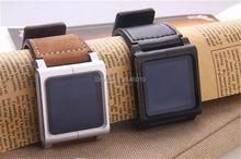 Сменный Браслет Кожаный Алюминиевый Ремешок для наручных часов для iPod Nano 6th коричневый Lunatik Chicago Permanent наручные часы