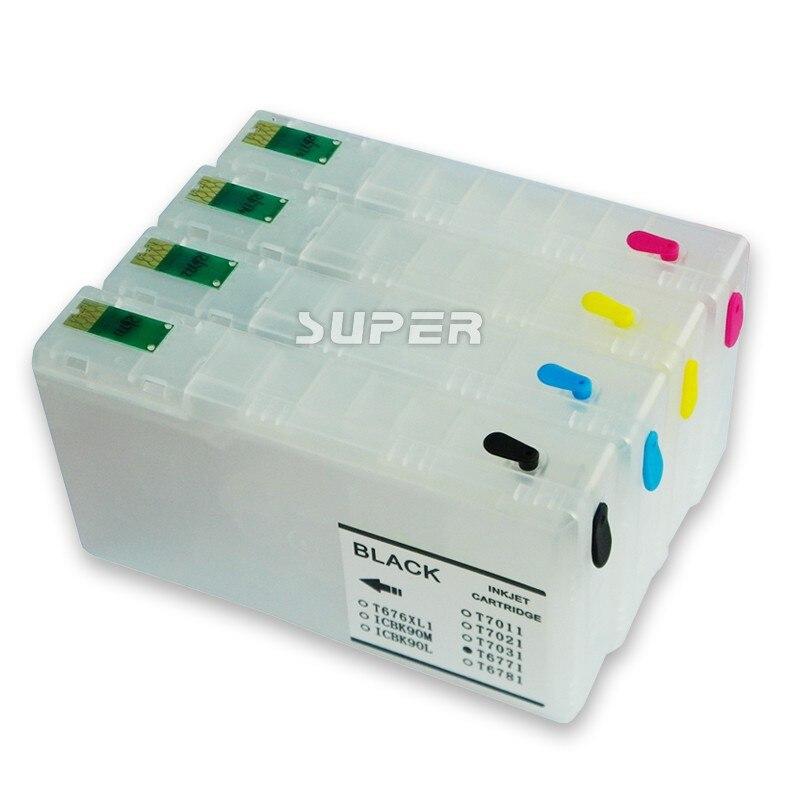 T7891-T7894 Cartucho de Tinta Recarregáveis Para Epson Workforce Pro WF-5110DW WF-5190DW WF-5620DWF WF-5690DWF Impressora Com Chip