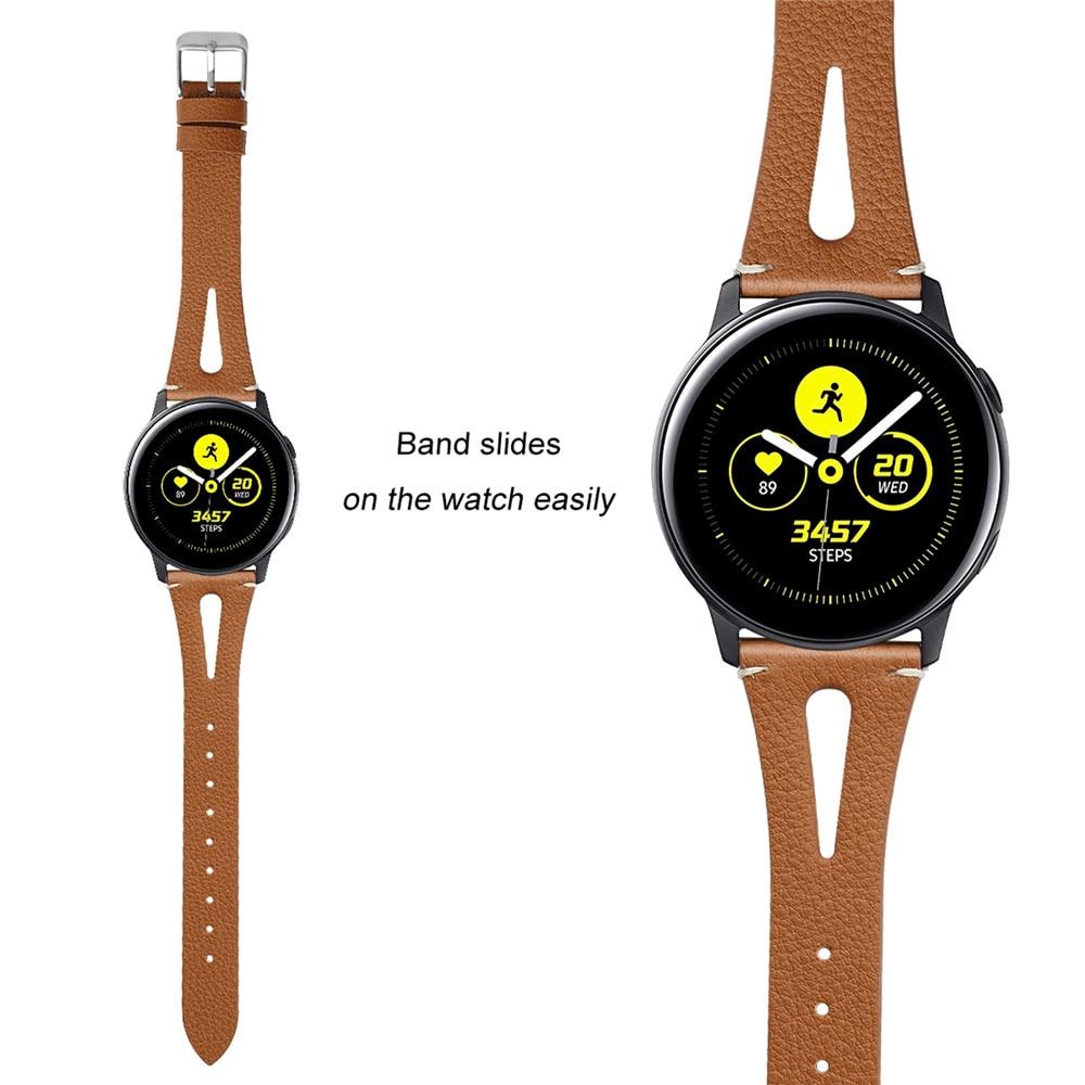 Echtes leder armband armband für Samsung Galaxy Uhr Aktive Smartwach Strap Mann & Frau Ersatz armbanduhr band