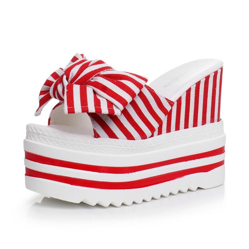 Vrouw Sandalen Strand Platform Wiggen Hoge Hakken Creepers Causale Comfort Slippers Vrouwen Slides Slippers zapatos de mujer