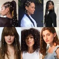 metal hair rings dreadlocks tubular ornaments adjustable hair clips accessories for jewelry dreadlocks electroplating