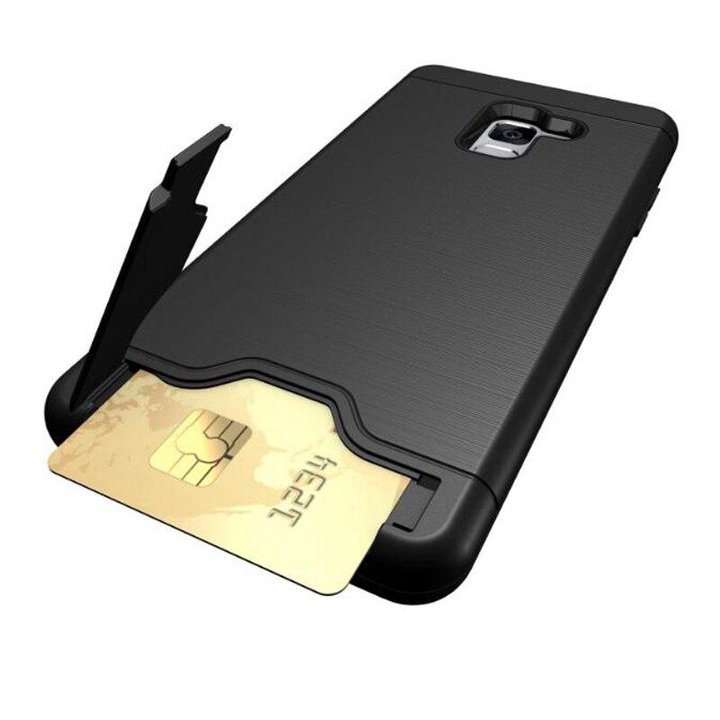 Чехол для телефона Samsung A8 2018 Plus, задняя крышка из поликарбоната + ТПУ, ударопрочный матовый чехол с отделением для карт для Galaxy A8 2018, держатель...