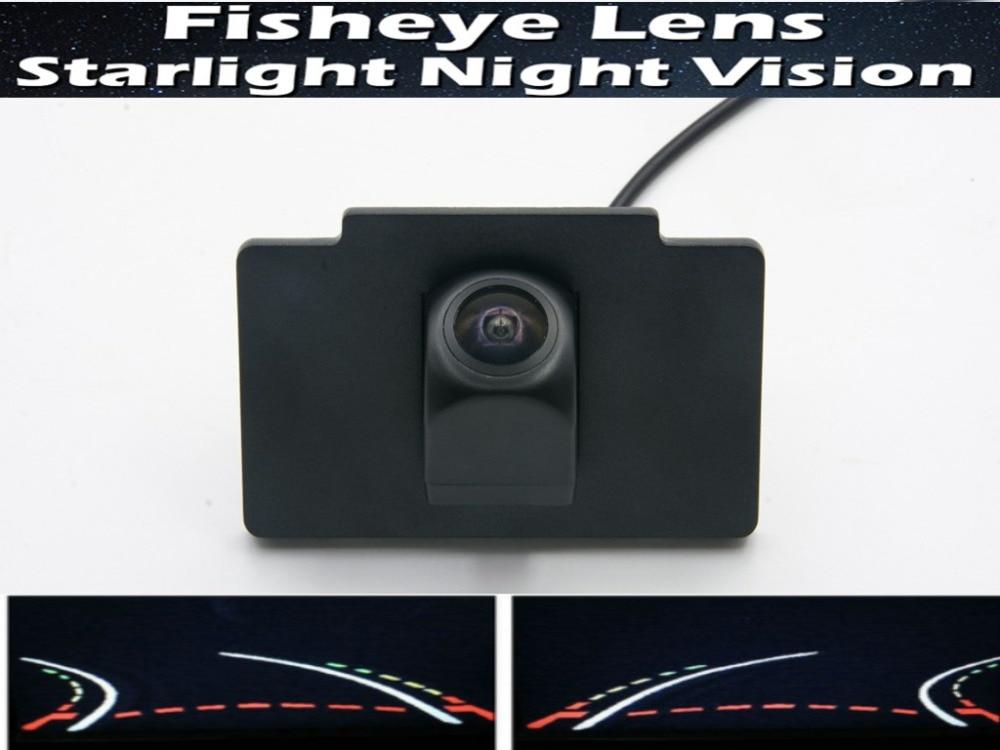 Cámara de marcha atrás de 1080P, pistas de trayectoria dinámicas, lente de ojo de pez, visión trasera para aparcamiento de coche, cámara para Kia K7 Cadenza 2012 2013, cámara de coche