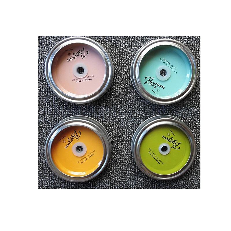32 مجموعة/الحزمة الكلاسيكية الشرب الزجاج المعادن الأغطية ميسون الأغطية جرة مع القش ثقوب و دون ، المعادن و الفولاذ المقاوم للصدأ خواتم MD1151a