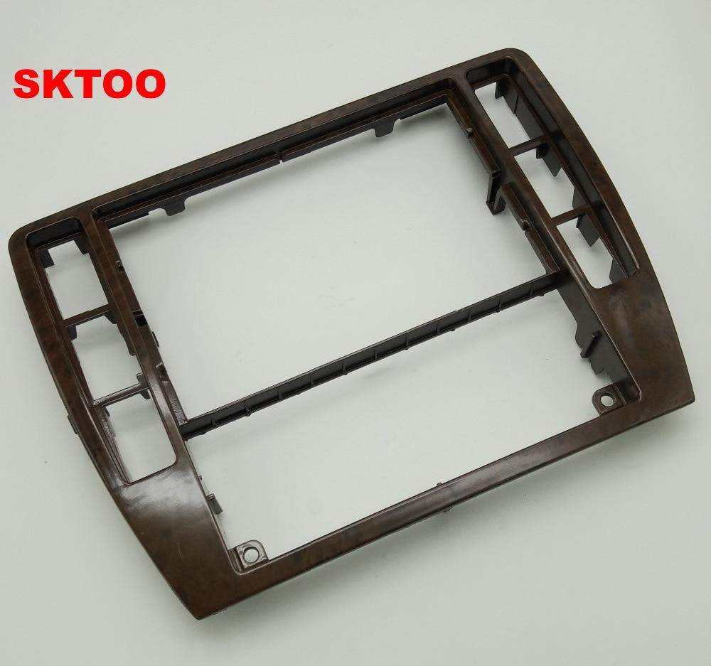 Para VW Passat B5 instrumento Central CD caja Cerezo madera decoración Radio embellecedor Panel de aire acondicionado de madera marco 3B0 858 069