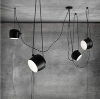 modern industrial iron spider drum pendant lights black suspension luminaire bar living room hanging light lamp fixtures