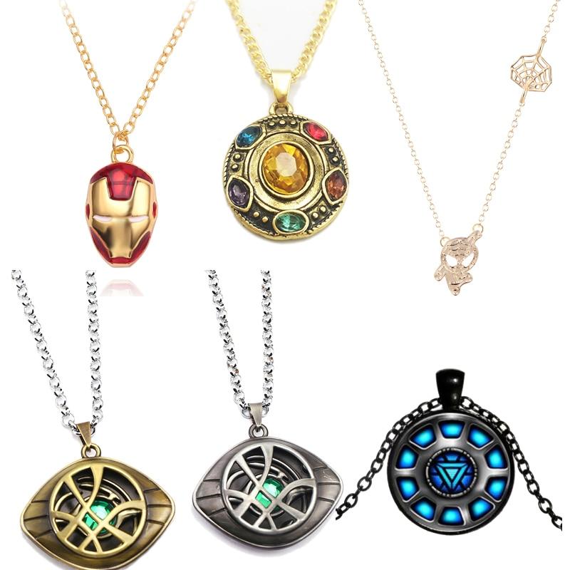 Doctor Strange necklace Infinity war Stones Crystal Eye of Agamotto Necklace fashion Pendant Children kids Gift