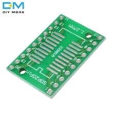10 PCS SOP20 SSOP20 TSSOP20 Per DIP20 0.65/1.27mm IC Adattatore PCB Board