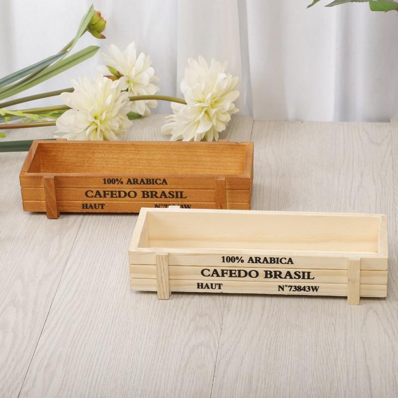Vintage maceta para planta de jardín de suculentas cajas de madera cajas de mesa rectangular maceta macetas bandeja jardinería dispositivo